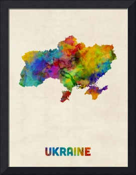 Ukraine Watercolor Map