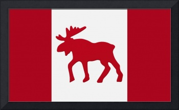 Moose Emblem On Canadian Flag