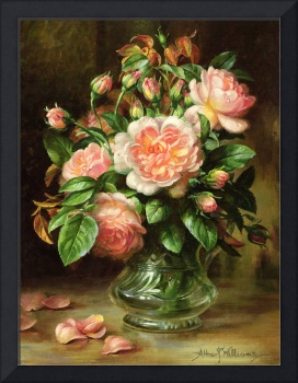 English Elegance Roses in a Glass