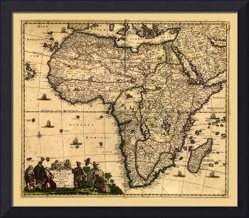 Map of Africa by Frederik de Wit (1688)
