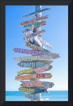 Key West Sign Post