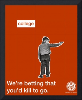 College Recruitment Anti-War Poster