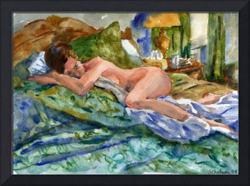 Lounging, Nude Female Art