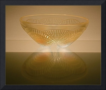 'Lalique' Glass Bowl - 'Coquilles'