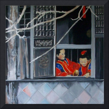Window in Winter (Old Shanghai) 30 x 30