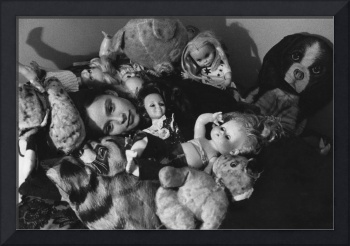 Joanne with Dolls