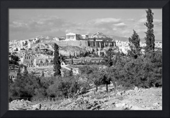 Athenian Acropolis from Philopappou Hill, 1960 B&W