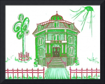 Victorian House in Green