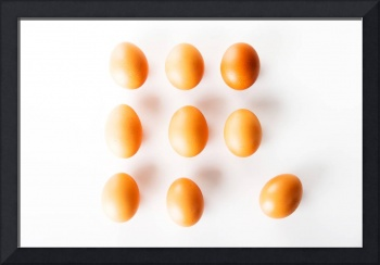 Eggs on white table