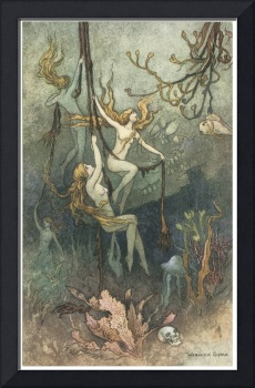 Sea Nymphs Hourly Ring His Knell by Warwick Goble