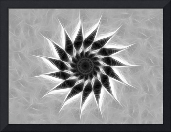 Gray Kaleidoscope Art 19