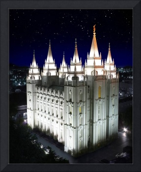 Salt Lake Temple Starry Night 16x20