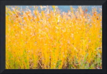 Abstract Colorful Cattails Grasses Painting