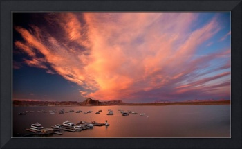 Fire Over Lake Powell