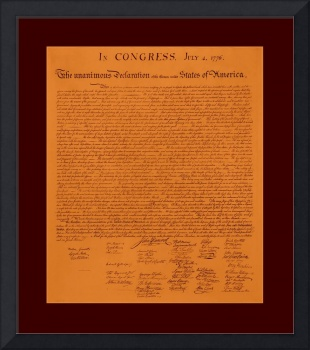 Declaration of Independence aged large border
