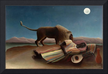 Henri Rousseau The Sleeping Gypsy Naive Art