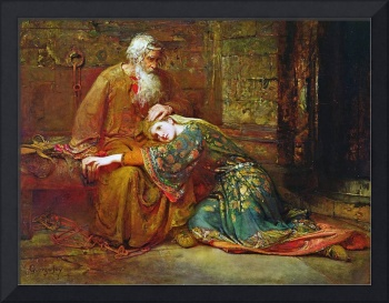 George William Joy - Cordelia Comforting her Fathe