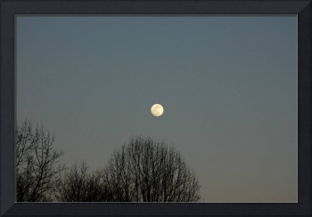 Moonrise over Lower Field