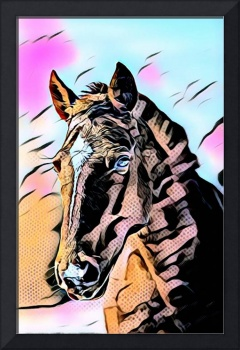 Horse Pop Art Comic