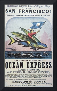 Ocean Express Clipper Ship Vintage Advertisement