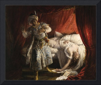 Alexandre-Marie Colin~Othello and Desdemona