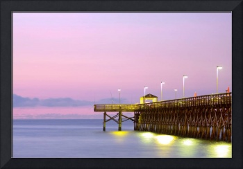 Purple Pier In the morning