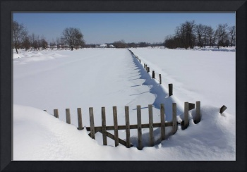 Wooden Gate in the Snow