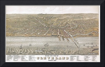 Cleveland Ohio Panoramic Map