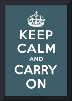 Blue Keep Calm And Carry On 8
