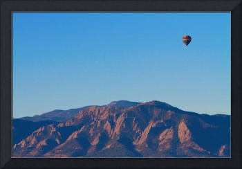 Boulder Colorado Flatirons Hot Air Balloon View