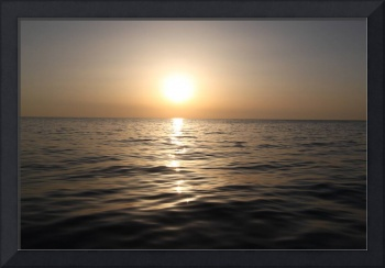 Sunrise from a Boat, Adriatic Sea, Italy.