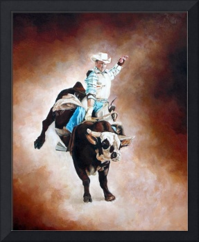 Cowboy's Ride Western Rodeo Themed Art
