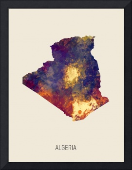 Algeria Watercolor Map