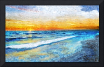 31a Seascape Sunrise Digital Painting