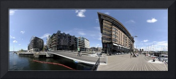 Buildings at the port Aker Brygge Oslo Norway