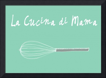 Italian food kitchen art illustration whisk