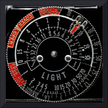 Old Exposure Meter Dial