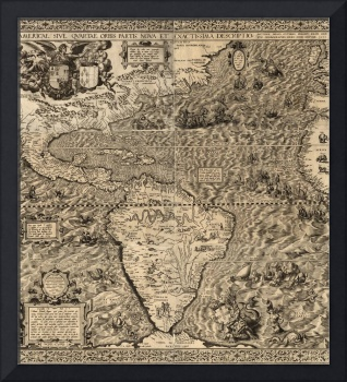 First Map of America to Include California Name -