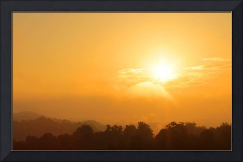 Golden Sunrise Over the Smoky Mountains