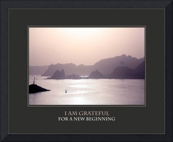 I Am Grateful For A New Beginning Affirmation Pstr