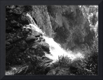 Over The Waterfall (B&W)