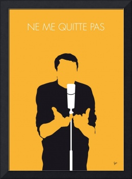 No234 MY JACQUES BREL Minimal Music poster