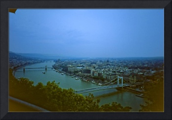 View over Pest viewed from Buda, Hungary 2001
