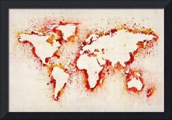 Map of the World Paint Splashes