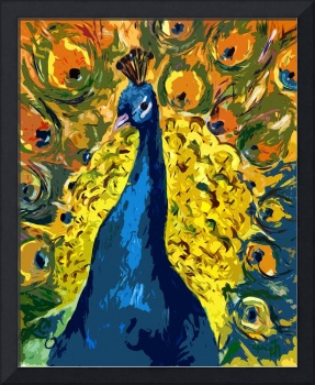Peacock Fowl Peafowl Beautiful Bird Art