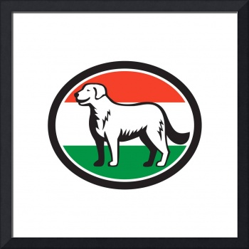kuvasz-dog-side-FLAG-HUNGARY-OVAL_5000