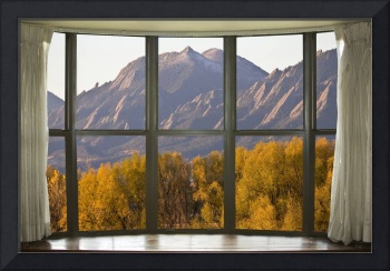 Boulder Flatirons Autumn Bay Window View