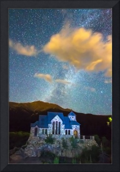 Magical Chapel On The Rock Milky Way Sky
