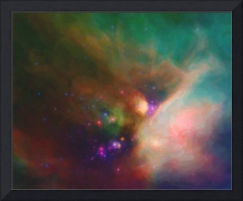Abstract Nebulla with Galactic Cosmic Cloud 44 med