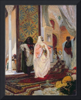 Entering the Harem, 1870s (oil on canvas)